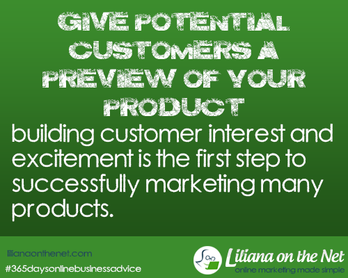 Product launch – Build Potential Customer Interest