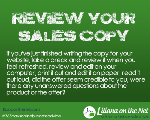 Review Sales Copy