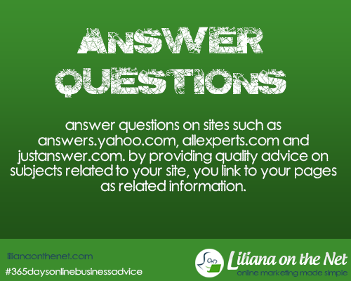 Answer Questions – Yahoo Answers