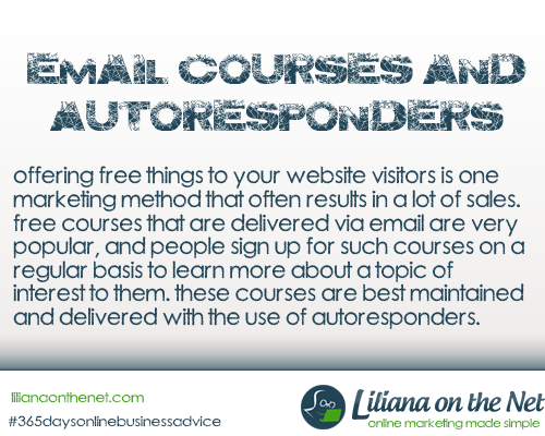 eCourses and Autoresponders