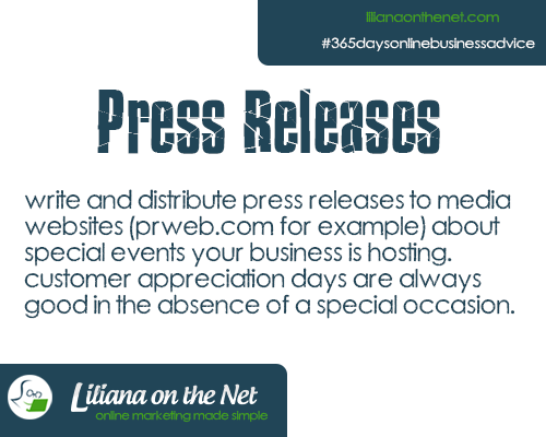 Press Releases for Marketing