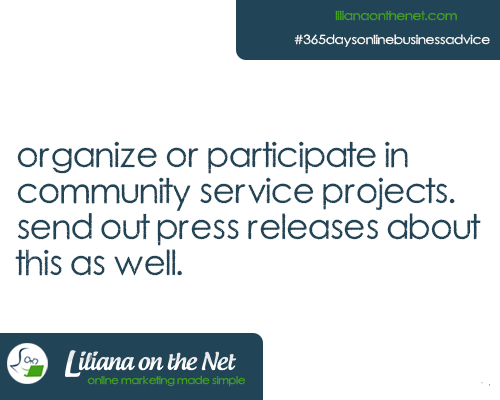 Participate in or Organize Community Service Projects