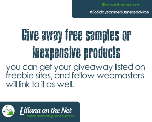 Give Away Free Samples of Inexpensive Products