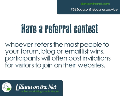 Have a Referral contest