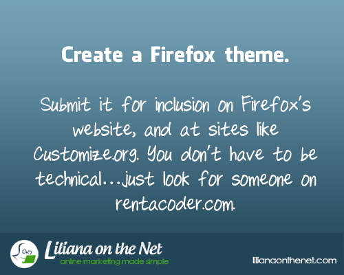 Create a Firefox Theme