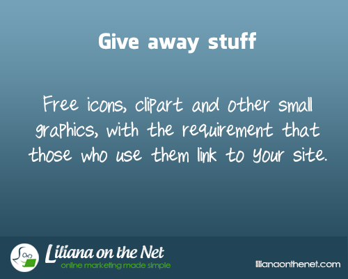 Give Away Stuff to Promote Your Blog
